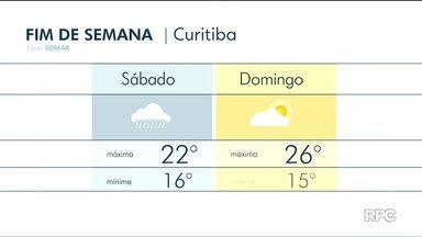 Em Curitiba, tempo abre no domingo e temperatura sobe - No sábado, o tempo ainda fica instável e com temperatura amena.