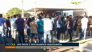 Terceira UPS é oficialmente inaugurada em Cascavel - Unidade Paraná Seguro fica no bairro Santa Cruz. Atendimento à comunidade começou em outubro.