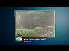 Moradores cobram melhorias e denunciam irregularidades no quadro 'Vc no MG' - Em Almenara telespectador mostra esgoto a céu aberto.