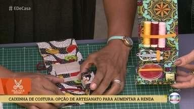 Aprenda a fazer uma linda caixinha de costura - Opção de artesanato é ótima dica para aumentar a renda ou presentear amigos