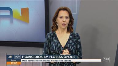 Dois homicídios são registrados na noite de sábado em Florianópolis - Dois homicídios são registrados na noite de sábado em Florianópolis