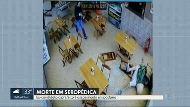 Ex-candidato a prefeito é assassinado em padaria na Baixada Fluminense - Um ex-candidato a prefeito da cidade de Seropédica foi assassinado a tiros dentro de uma padaria. É o segundo assassinato de políticos na cidade em menos de três semanas.