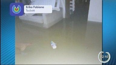 Taubaté teve chuvas intensas no final de semana - Casos foram registrados no sábado à noite.