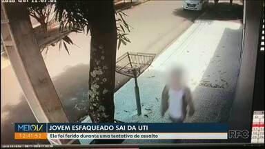 Jovem esfaqueado em Maringá sai da UTI - o assalto foi na quinta feira passada quando o adolescente voltava da escola.