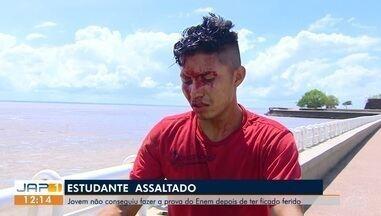 Estudante é assaltado e leva pedrada quando ia fazer prova do Enem 2018, em Macapá - Crime ocorreu na orla, na manhã deste domingo (11), segundo dia do exame.