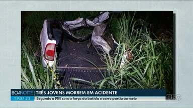 Três jovens morrem em acidente próximo a Alto Paraíso - Foi na noite de domingo, 11.