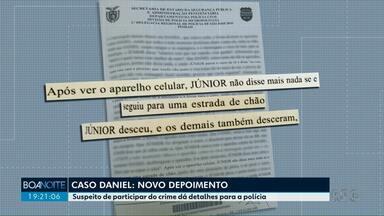 Caso Daniel: suspeito de participar do crime dá detalhes à polícia - Câmeras de shopping registra encontro de suspeitos