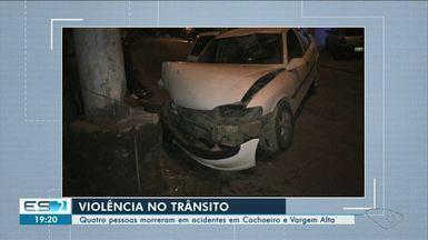 Em seis horas, cinco acidentes de trânsito são registrados no Sul do ES - Quatro pessoas morreram.