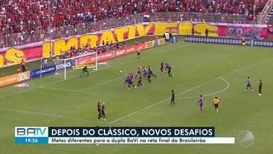 Após clássico, dupla Ba-Vi foca em novos desafios para o fim do Brasileirão 2018 - O jogo deste domingo (11), terminou em empate. Veja também o Condomínio do Brasileirão com o comentarista Sérgio Pinheiro.
