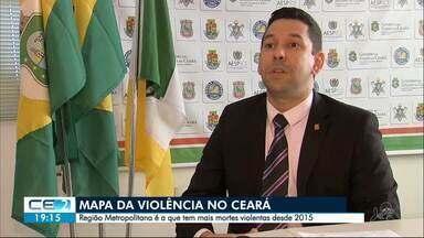 Região Metropolitana de Fortaleza concentra maior parte dos homicídios do Ceará - Confira mais notícias em g1.globo.com/ce