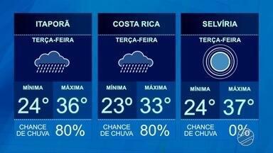 Confira a previsão do tempo para essa terça-feira (13) - Previsão de sol para todas as regiões do estado.