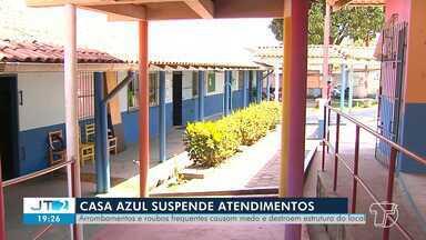 Casa Azul suspende atendimentos devido aos constantes arrombamentos e roubos - A entidade funciona num prédio cedido pelo estado no bairro Nova República e atende crianças e adolescentes com autismo.