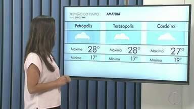 Confira a previsão do tempo para esta terça-feira (13) no interior do Rio - Assista a seguir.