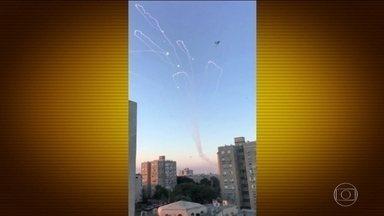 Violência em Gaza chega ao nível mais alto desde a última guerra entre Israel e o Hamas - A violência explodiu na Faixa de Gaza depois da operação secreta israelense que resultou na morte de sete palestinos e um militar israelense, o grupo Hamas disparou uma chuva de foguetes contra Israel.