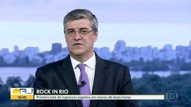 Primeiro lote do Rock in Rio se esgota em duas horas - Mais de 198 mil ingressos foram vendidos, um recorde na pré-venda na história do festival. Próximos ingressos serão vendidos na primeira quinzena de abril.