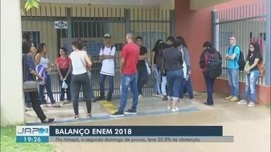 Mais de 29% dos candidatos não compareceram no segundo dia de prova do Enem no Brasil - Balanço é do Ministério da Educação. Percentual é maior que no primeiro dia de aplicação do exame.