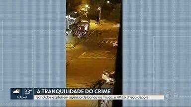Bandidos explodem caixa eletrônico de agência bancária na Tijuca - Esse é o segundo ataque a agências bancárias em 15 dias na Rua Mariz e Barros.