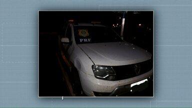 Caminhonete roubada é recuperada antes do dono registrar boletim de ocorrência - Dono é de Umuarama, mas carro foi recuperado pela PRF Guaíra. Ladrões estavam tentando cruzar a Ponte Ayrton Senna.