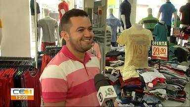 Feriado de lojas abertas e de pouco movimento no centro de Fortaleza - Confira outras notícias no g1.globo.com/ce