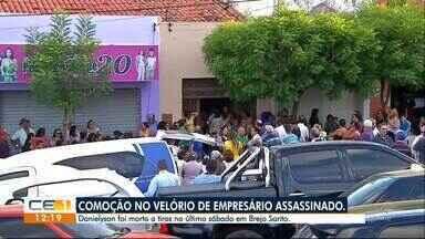 Velório do empresário assassinado em Brejo Santo - Confira outras notícias no g1.globo.com/ce