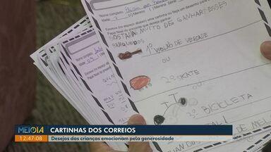 Desejos das cartinhas das crianças emocionam pela generosidade - Os Correios já disponibilizaram as cartinhas para quem quiser ajudar as crianças na rede de educação pública de Londrina.