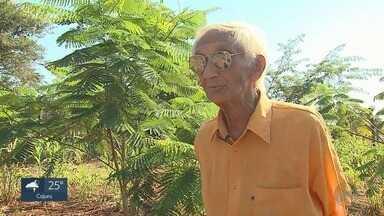 Aos 94 anos, aposentado trabalha como agricultor e artesão em Morro Agudo, SP - Conheça a história de Raul de Almeida, um exemplo de disposição.