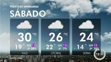 Pode chover na região nesta sexta (16) - Veja na previsão do tempo.