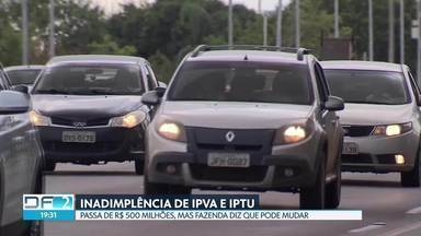 Inadimplência de IPVA e IPTU passa de R$ 500 milhões em 2018 - Sem o balanço do ano fechado, a inadimplência de IPTU chega a 35% e de IPVA, a 23%. A secretaria de Fazenda afirma que, historicamente, o percentual de inadimplência de um exercício vai diminuindo nos anos seguintes.