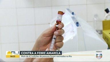 Rio segue com vacinação contra febre amarela - No município do Rio, segundo o último levantamento feito pela secretaria, 84% do público-alvo já foi imunizado.
