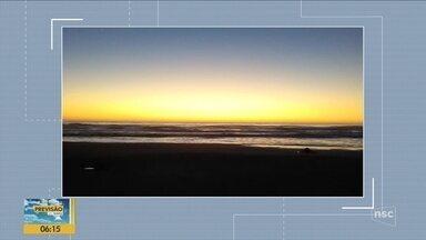 Quadro 'Você na Previsão' mostra o amanhecer nas cidades catarinenses - Quadro 'Você na Previsão' mostra o amanhecer nas cidades catarinenses