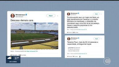 Whindersson Nunes critica situação dos estádios de Teresina - Whindersson Nunes critica situação dos estádios de Teresina