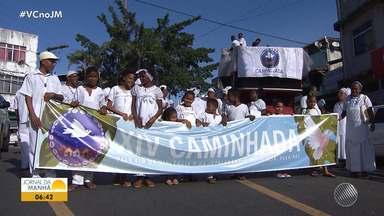 Religiões de matrizes africanas fazem ato contra a violência em Salvador - Na quinta-feira (15), grupos foram às ruas chamar a atenção para o combate à intolerância religiosa.