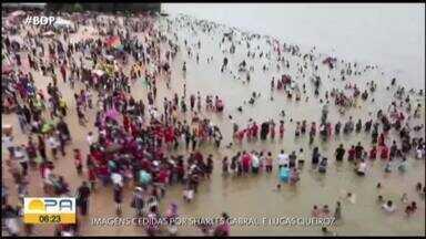Em Icoaraci, cermônia de batismo coletivo reuniu uma multidão - A celebração das águas é um momento importante que simboliza conversão.