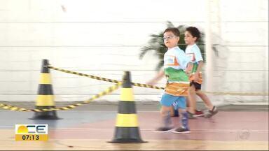 Corrida da Inclusão é realizada em Fortaleza - O objetivo na corrida não é competir e sim incluir crianças que possuem deficiência física ou motora