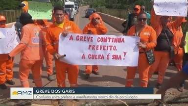 Presidente Figueiredo sofre com greve de garis - Cidade está há 4 dias sem coleta de lixo.
