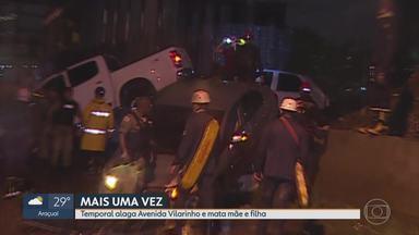 Chuva causa mortes e destruição em Belo Horizonte - Mãe e filha morreram arrastadas dentro de um carro que foi inundado; jovem de 16 anos desapareceu após cair num bueiro.