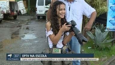 Sexta colocada do 'EPTV na Escola' conta como foi a experiência de fotógrafa - Lara, da cidade de Lindoia (SP), foi classificada com a redação 'eternizar momentos'.
