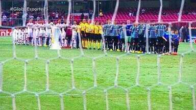 Grêmio segura São Paulo e depende de próprias forças por G-4 - A quatro rodadas do fim do Brasileiro, Renato 'banca' Libertadores. Placar ficou no 1 a 1 no Morumbi.