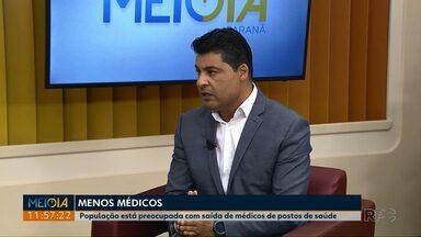 Prefeito de Ponta Grossa, Marcelo Rangel fala sobre a saída dos médicos cubanos - Dos 80 médicos que atendem nas unidades de saúde da cidade, 60 são cubanos. Prefeitura pretende concentrar recursos para suprir a demanda por médicos.