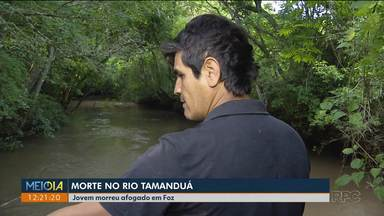 Jovem morre afogado em rio de Foz do Iguaçu - É o segundo caso de morte por afogamento no rio em uma semana.