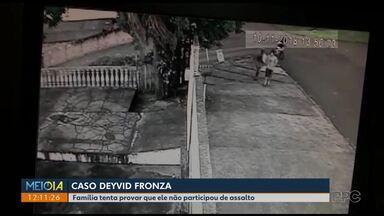 Família tenta provar que Deyvid não participou de assalto - Eles tentam reabrir o inquérito policial sobre o roubo; Deyvid foi morto por policiais do Bope no bairro Pilarzinho, em Curitiba.