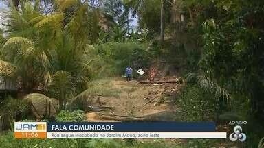 Fala Comunidade: Moradora pedem asfaltamento de rua - Equipe de reportagem visitou local.