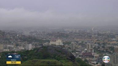 Previsão é de chuva para o Rio de Janeiro para esta terça-feira (20) - Áreas de instabilidade trazem chuva para todo o estado. A temperatura máxima prevista para a Região Metropolitana é de 25ºC.