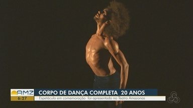 Corpo de Dança do Amazonas comemora 20 anos de trajetória - Para comemorar, grupo realizou espetáculo no Teatro Amazonas.