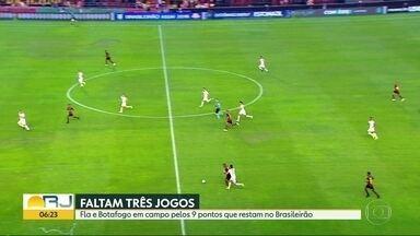 Flamengo e Botafogo entram em campo pelos 9 pontos que restam no Brasileirão - O quarta-feira (21) é dia de jogos importantes para o Flamengo e Botafogo. Já o Vasco vive situação delicada faltando apenas três rodadas para o fim do campeonato.
