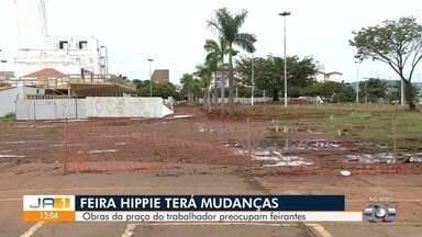 Feirantes temem que revitalização da Praça do Trabalhador prejudique Feira Hippie - Obras já começaram na região central de Goiânia.