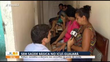 Pacientes denunciam de demora no atendimento em posto de saúde do Icuí-Guajará - Secretaria de Saúde diz que atendimento está normal.
