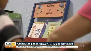 Começa inscrição para alunos especiais nas escolas públicas de Fortaleza - Confira outras informações no g1.com.br/ce