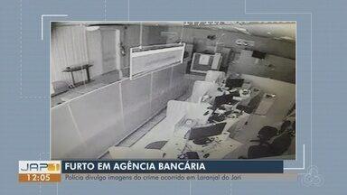 Polícia Civil divulga imagens de furto em agência bancária de Laranjal do Jari - Pelo menos três criminosos são investigados pelo crime. Armas foram levadas e ninguém foi preso.
