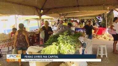 Feiras livres na capital - Feirantes pedem por melhorias nas feiras.